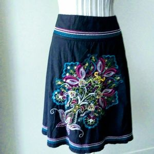 Heart Soul  Junior Embroidered Floral Skirt